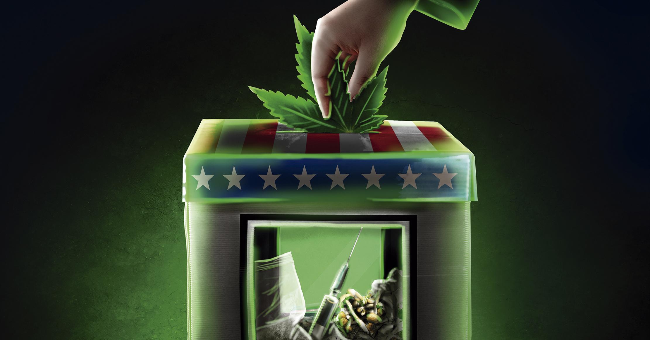 Algunas entidades en Estados Unidos votaron por despenalizar la mariguana