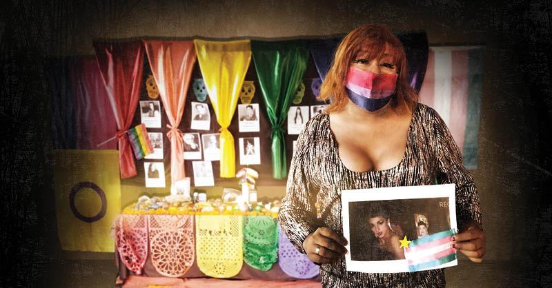Con una ofrenda, el Colectivo Orgullo Diverso de México honra y visibiliza a las personas trans que murieron