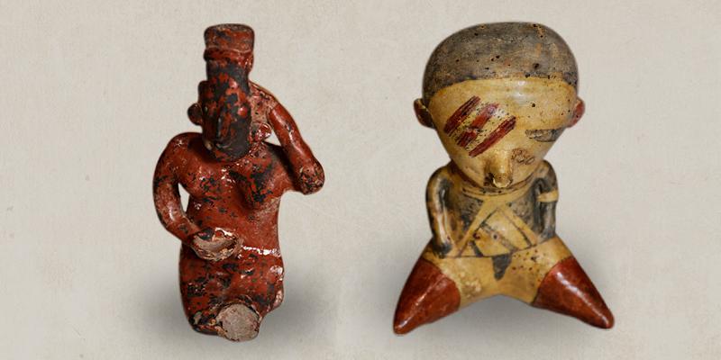 Cuatro piezas antropológicas mexicanas han regresado al país