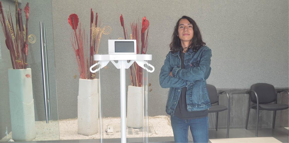 Rogelio Zaid Sariñana Hernández creó OZVI, un sanitizante que no utiliza productos químicos