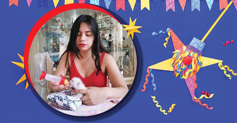Thalía Tetecatl se ha dedicado de tiempo completo a rescatar gatitos huérfanos recién nacidos