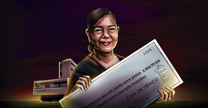 Claudia Elena Saucedo González, con sólo una licenciatura en Comunicación, recibe un sueldo mensual de más de 200 mil pesos