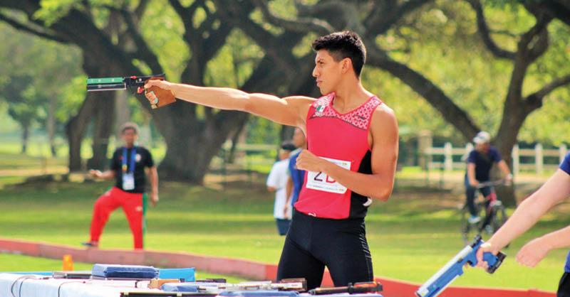 Manuel Padilla Lazcano, quien debido al COVID-19 no podrá asistir al Campeonato Nacional de Pentatlón Moderno,