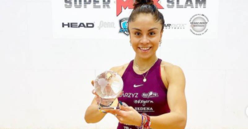 Paola Longoria, quien hace tres días logró su título 106
