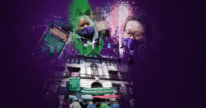 Grupos feministas tomaron el Congreso de Puebla por más de una semana