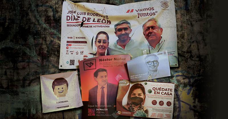 Políticos y funcionarios de la Ciudad de México han empezado a utilizar lonas y pendones que se convertirán al final en basura electoral