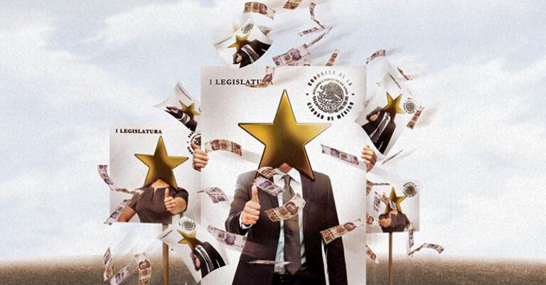 Los diputados del Congreso de la Ciudad de México usan recursos públicos adicionales a los designados para promover su imagen