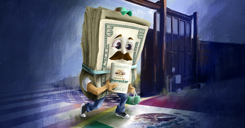 Esta estrategia abarca el apoyo a los migrantes que se plantea en la iniciativa de reformas a la Ley del Banco de México