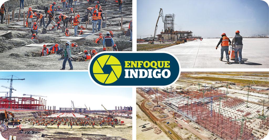 La construcción del Aeropuerto Internacional Felipe Ángeles en Santa Lucía, Estado de México, no ha parado desde octubre de 2019