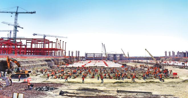 Hasta la fecha, esta construcción ha generado aproximadamente 73 mil 50 empleos con una inversión de 82 mil 136.1 millones de pesos