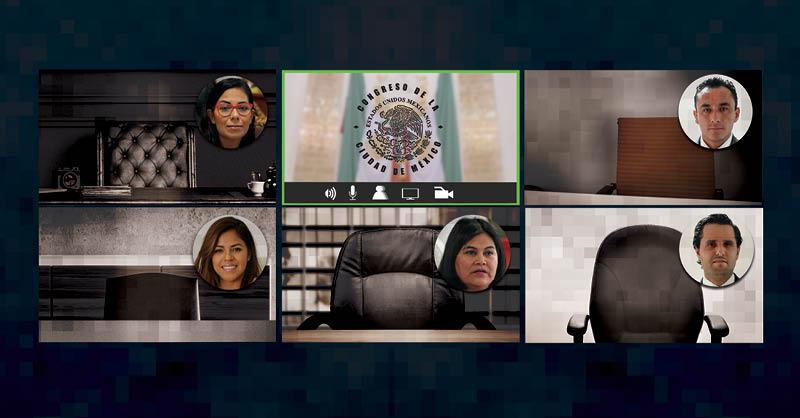 En el Congreso de la Ciudad de México, algunos diputados han incumplido con asistir a trabajar