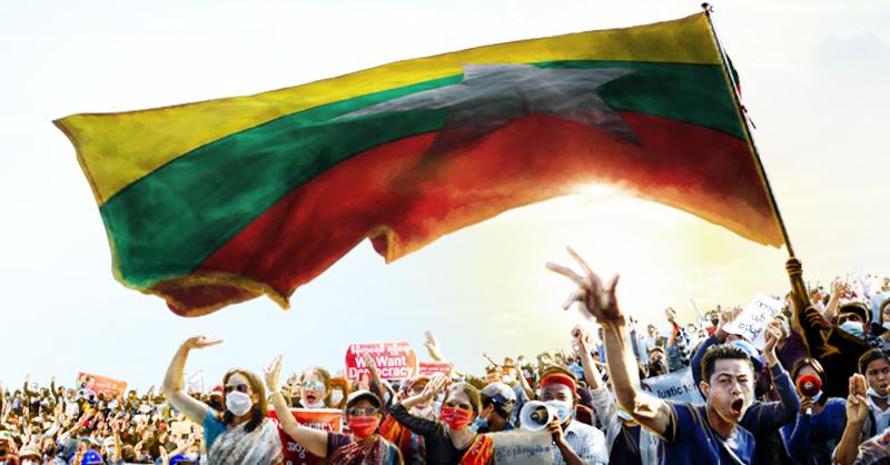 A tres semanas del golpe de Estado en Myanmar, las protestas siguen