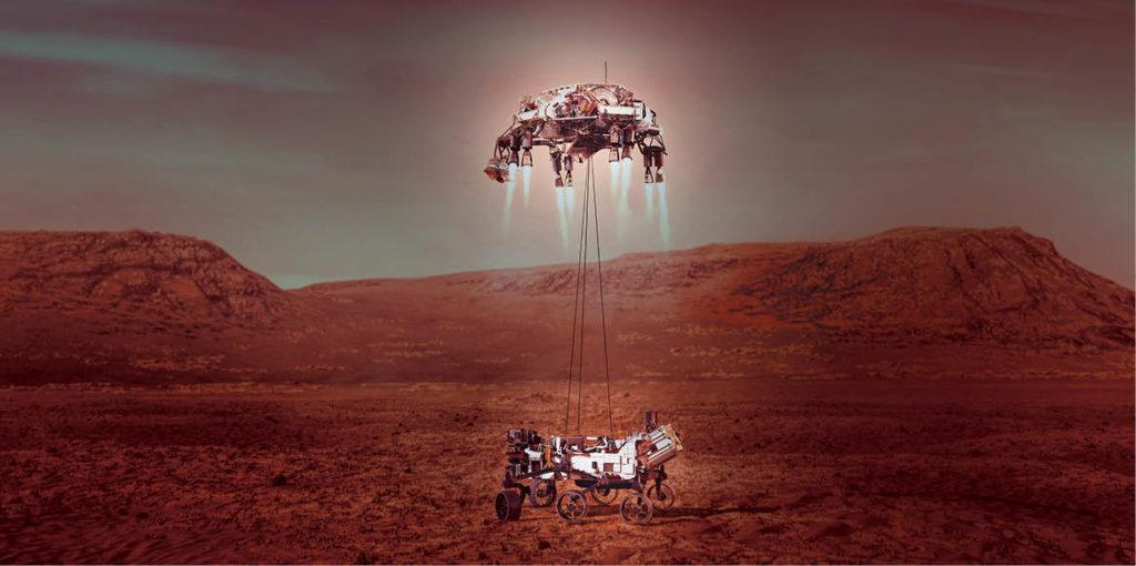La NASA logró aterrizar en el planeta rojo el rover Perseverance