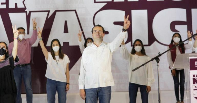 Xavier Nava Palacios refrendó su compromiso para continuar con la transformación de San Luis Potosí