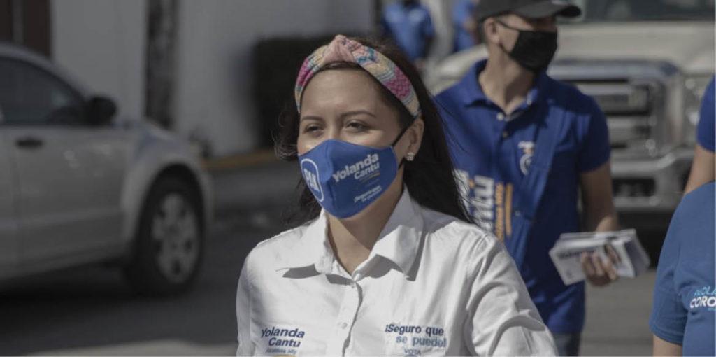 La campaña de Yolanda Cantú, candidata del PAN, es bailar.