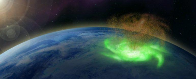 Por primera vez en la historia, captan un huracán espacial sobre el Polo Norte