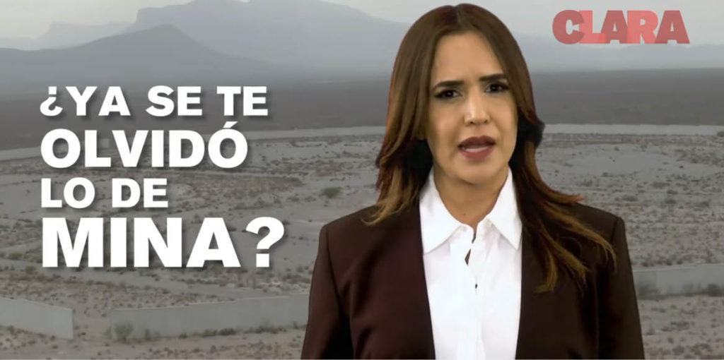Clara Luz Flores ligó en un spot a Adrián de la Garza con Medina.
