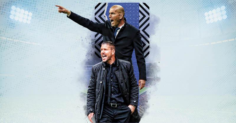 Zinedine Zidane y Diego Simeone se han enfrentado varias veces como entrenadores