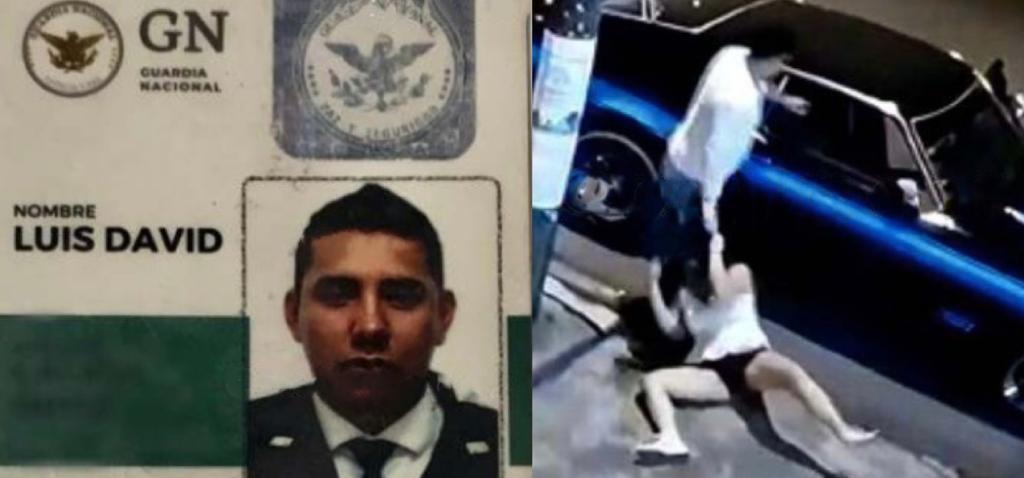 Confirman que sujeto que golpeó brutalmente a su esposa es integrante de Guardia Nacional