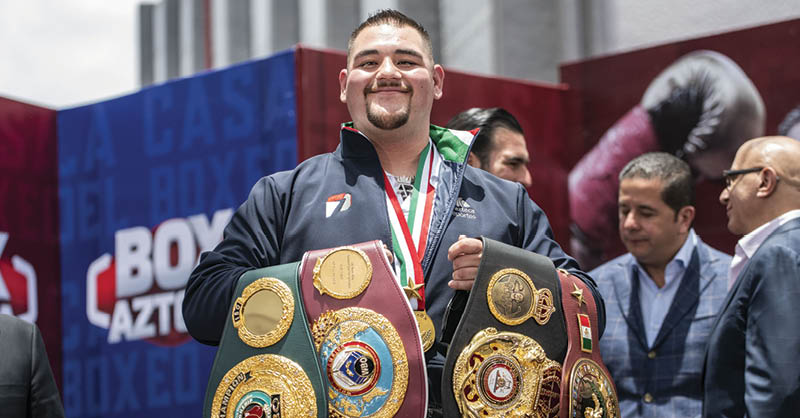 """Andy Ruiz regresa al ring, de la mano del equipo de """"Canelo"""""""