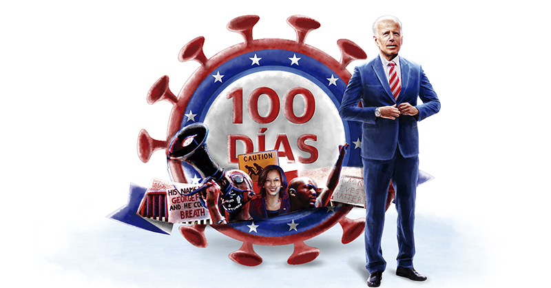 Hace 100 días, Joe Biden tenía sobre sus hombros una tarea monumental: sacar adelante a Estados Unidos