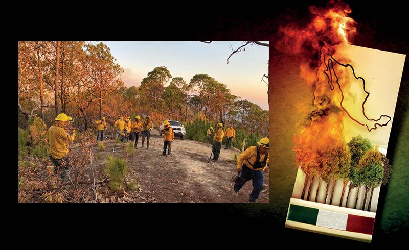 Para poder combatir los incendios forestales se requiere de equipo