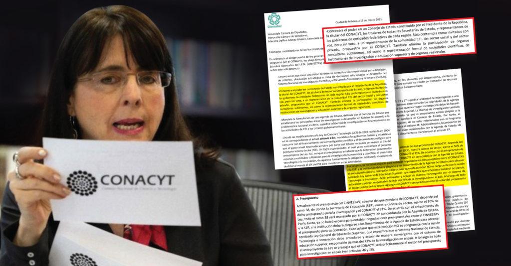 Investigadores del Cinvestav enviaron una carta dirigida a las cámaras de Diputados y Senadores
