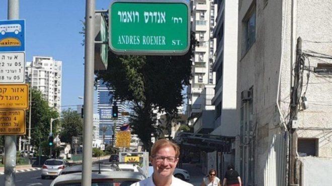 "Calle ""Andrés Roemer"" en Israel"