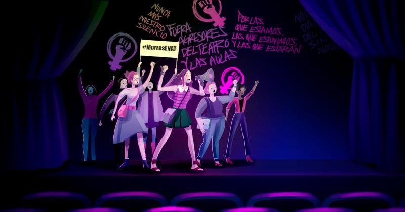 El 27 de marzo de 2019 las alumnas de la Escuela Nacional de Arte Teatral (ENAT), del INBAL, no celebraron el Día Mundial del Teatro