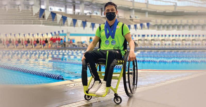 Marcos Zárate ha elevado el nivel de su desempeño en natación