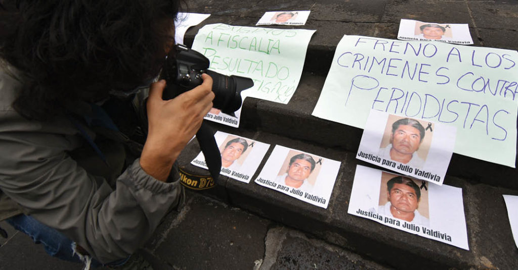 En 2020, el Gobierno informó que 19 periodistas fueron asesinados por asuntos relacionados a su labor.