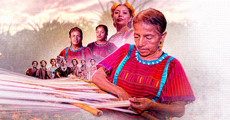 El pintor Joel Merino inició el proyecto comunitario Nimán'a con el cual difundirá la importancia de los textiles y el telar de cintura