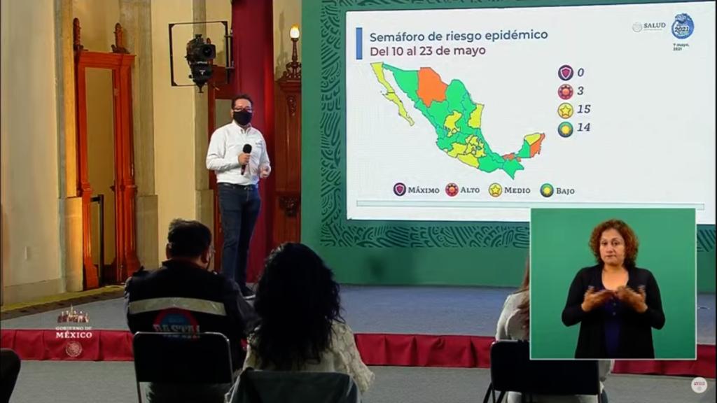 México se pinta verde en el semáforo COVID; 14 entidades están en el riesgo mínimo