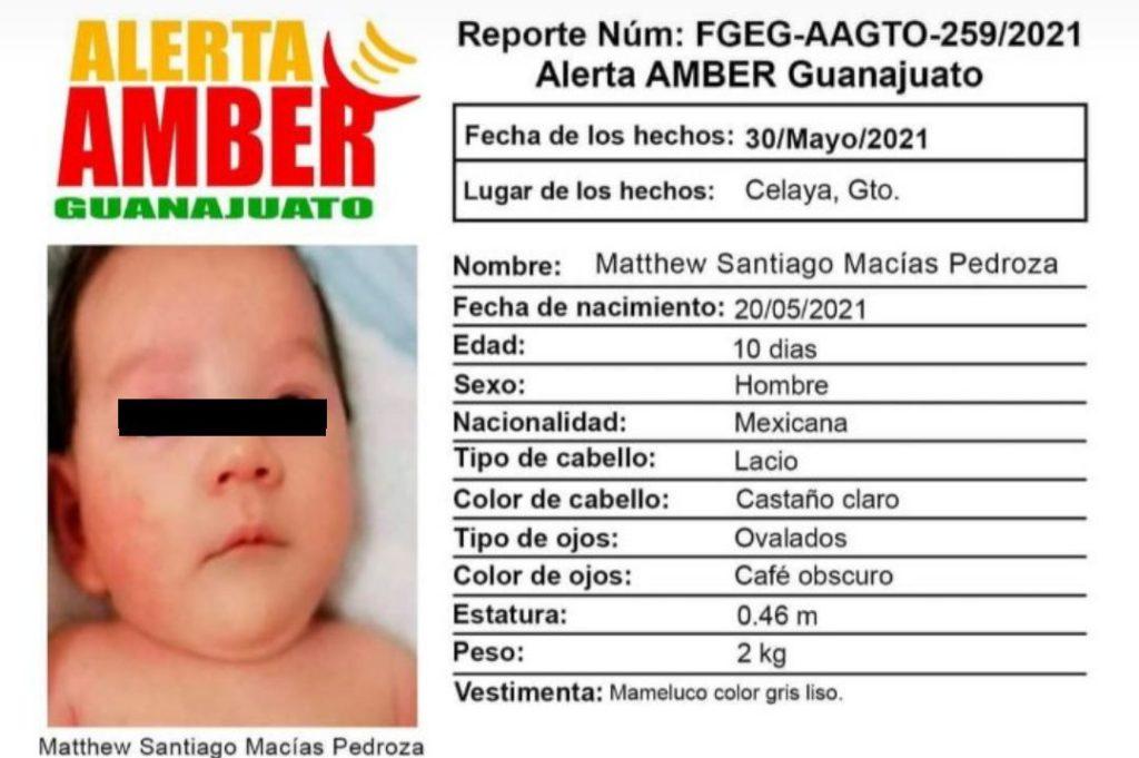 Mujer mintió: ningún bebé Matthew Santiago fue robado en Guanajuato a punta de pistola