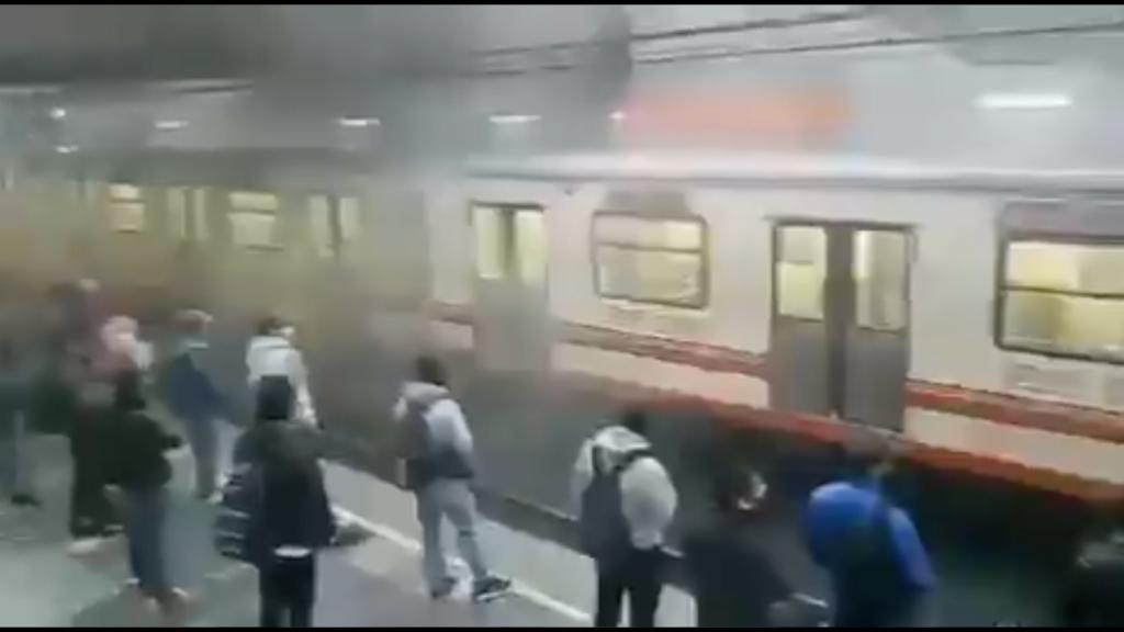 Otra falla en el Metro: Pantitlán se llena de humo por incidente con tren (VIDEO)