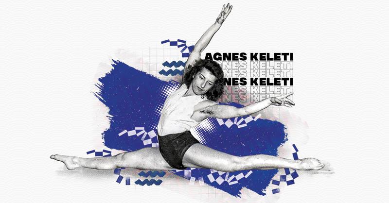 Agnes Keleti, quien con 100 años es la campeona de Juegos Olímpicos de mayor edad en estar viv