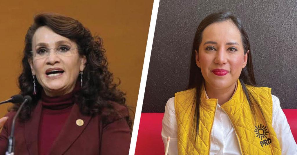 Las candidatas punteras para la alcaldía Cuauhtémoc, Dolores Padierna de Morena y Sandra Cuevas