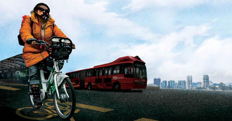 Hace un año, Insurgentes, una de las avenidas más grandes del mundo, se transformó con la implementación de una ciclovía emergente