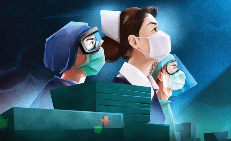 Enfermeras y enfermeros se enfrentan diariamente a un enemigo silencioso, el COVI D-19