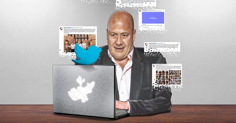 El Instituto Electoral de Jalisco le ordenó al gobernador Enrique Alfaro retirar 20 mensajes de sus redes