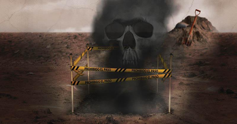 Incrementan las fosas clandestinas con tapas de lámina para que los restos humanos se calcinen completamente