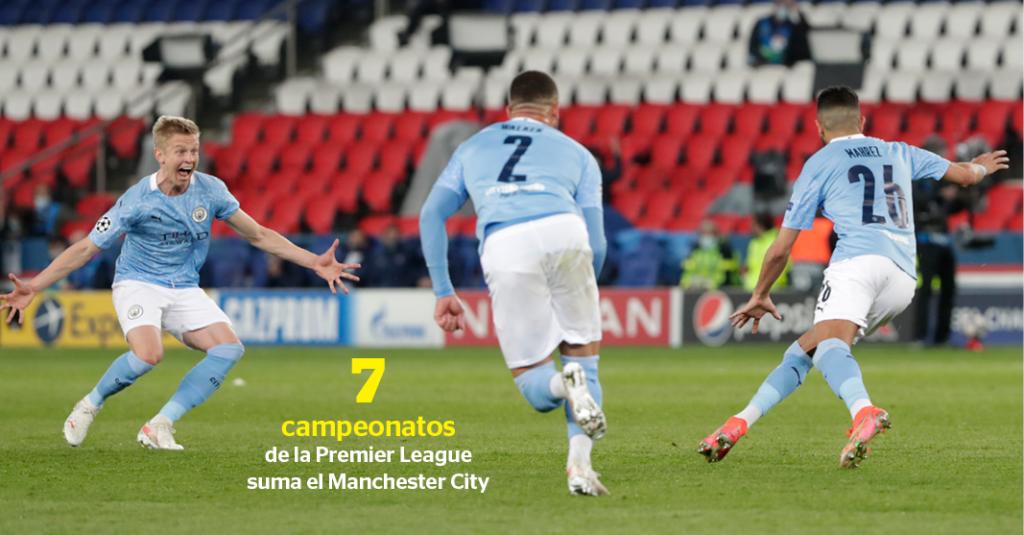 Por tercera ocasión en los últimos cuatro años el Manchester City se coronó campeón del futbol de Inglaterra