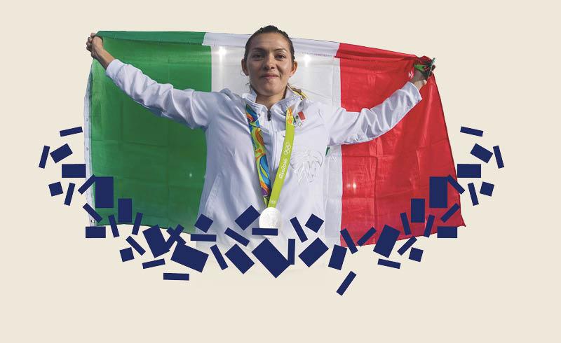 María del Rosario Espinoza ocupará el lugar más alto entre las deportistas mexicanas