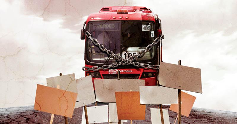 Durante el 2020, las siete líneas del Metrobús padecieron 370 afectaciones por protestas