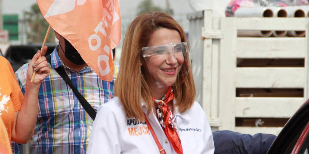 Myrna Baho, candidata emecista, ha recibido amenazas durante su campaña