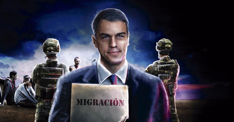 Debido a la llegada de inmigrantes marroquíes a Ceuta y Melilla, el presidente Pedro Sánchez ha implementado seguridad en su frontera