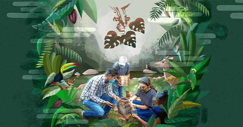 Para la reserva Kolijke, el cuidado de la naturaleza es una labor que se debe desarrollar de forma interdisciplinaria