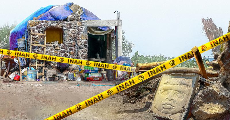 Vecinos del poblado de Oztoyahualco, en la zona arqueológica de Teotihuacán, Estado de México, alertaron sobre una edificación