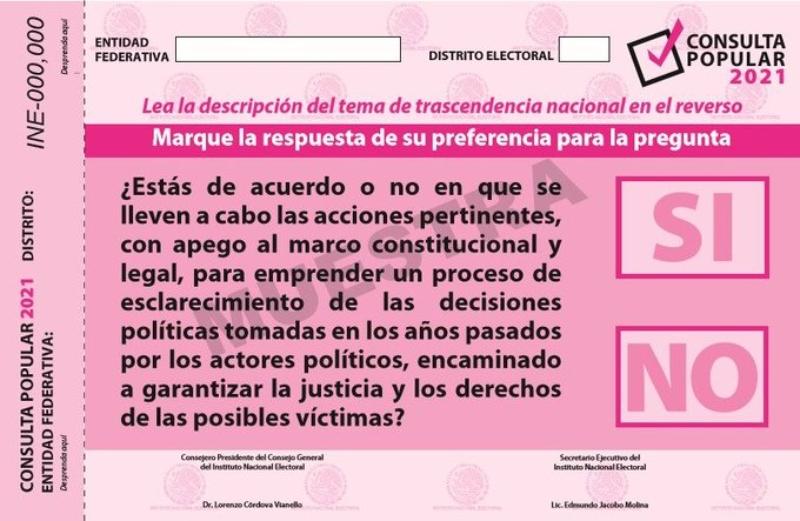 INE termina de imprimir las 93.5 millones de papeletas para consulta contra expresidentes