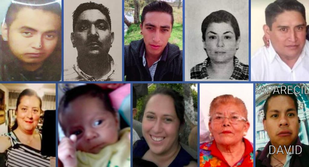 Fiscalía de Edomex ofrece 300 mil pesos para localizar a 17 personas desaparecidas